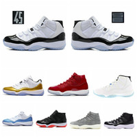Concord High 45 11 XI 11s Cap and Gown PRM Heiress Gym Red Chicago Platinum Tint Space Jams Uomini Scarpe da basket sportive Sneakers