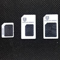 دي إتش إل الحرة 3 في 1 العلامة التجارية الجديدة نانو مايكرو معيار محول بطاقة سيم محول نانو سيم بطاقة مايكرو سيم للهاتف المحمول