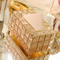 European Style Metal Crystal Tissue Box Removable Tissue Nap...