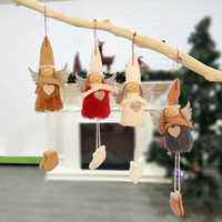 2019 New Custom Christmas Decoration Pendant Colorful Angel Plush Doll Xmas Creativo ornamenti speciali Calda decorazione di Natale