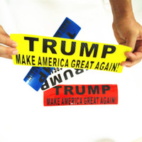 Donald Trump Pegatinas para autos de parachoques Pegatina reflectante Trump 30 * 8 cm Make America Great Decal Pegatinas reflectantes para pared 6 colores GGA1774