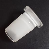 Plus récent verre downstem vers le bas de la tige Adaptateur de tuyau 18mm mâle à 14mm Réducteur Connecteur Slit Diffuseur en verre Bongs Adaptateur de conduite d'eau