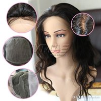 Body Wave Human Hair Wigs 4*4 Silk Base Full Lace Wigs with ...