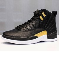 12b56fe01c4 New Arrival. Cheap new Jumpman 12s basketball shoes j12 Wings black gold  snakeskin Blue youth kids air flight 12 xii sports sneakers boots with box