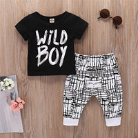 Baby Boys Clothes Set Wild Boy Long Sleeve T- Shirt Tops and ...