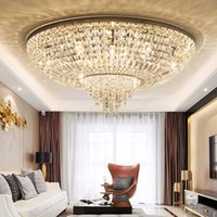 LED Modern Crystal Ceiling Lamp American Round Crystal Ceili...