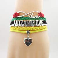 Infinity Love Mozambique Football Bracelet Heart Charm Mozam...