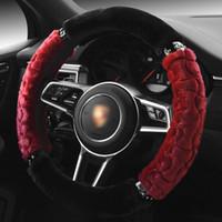 Rouge Housse de volant Accessoires voiture rouge Housse de volant pour Emgrand EC718 Ford Excursion Focus RS F150 Taurus Mustang GT Fusion