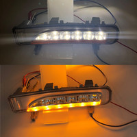 2009 2010 2011 2012 2013 2014 포드 가장자리를 들어 회전 신호 조명을 실행 한 쌍 일광 자동차 LED DRL 주간