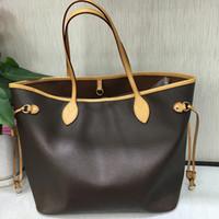 38500e147b AAA+Original 2018 NEVER FULL cowhide leather handbags color leather  shopping bag Never single shoulder bag Free Shipping