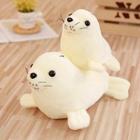 Cute Simulation Animal Sea Lion Plush Toys Children Toy Cart...