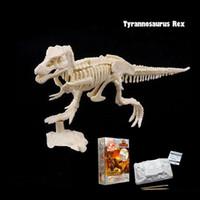 Археологическая игрушка творческий DIY добыча динозавр ископаемое собрание модель игрушка тираннозавр рекс хищник детская игрушка строительный блок