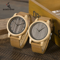 BOBO BIRD WL10 Womens Casual Antique Round Bamboo Wooden Watch for Men Leather Strap Lady Watches Top  Wrist Watch