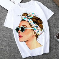 Summer Vogue Printed Lady Casual T Shirt Tops Harajuku Stree...