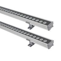 새로운 1M 24W 36W LED 벽 세탁기 조경 빛 DC24V 야외 조명 벽 선형 램프 투광 조명 100cm Wallwasher