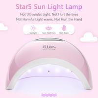 STAR5 48W UV LED Lámpara Secador de uñas Smart Fototherapy Machine Curado rápido Sensación automática 33 LEDS 10/30/60/99s Temporizador Pantalla LCD para todos los geles
