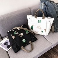 New Fashion Starbucks women handbag brand Canvas shopping bag High quality shoulder bag 4 colors wholesale