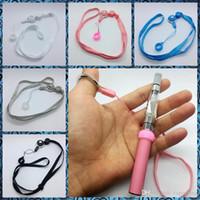 Vapouring collana Sling cordino anello di barretta portatile innovativa forma ad anello del silicone di disegno O addensare fisso per Vape EVOD EGO Pen Kit