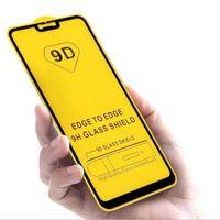 9D Cep Telefonu Ekran Koruyucuları Samsung A12 A02 A02S A32 A42 A52 A72 Tam GlueTempered Cam Filmi Anti-patlama Paket D1