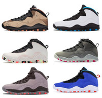 2020 des chaussures forma branca Silver Wings 10 10s Mens tênis de basquete Super Bowl LIV Tinker Blue Fire Red Formadores Sneakers