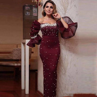 2019 Elegant Evening Dresses Mermaid Sweetheart Pearl Beaded...