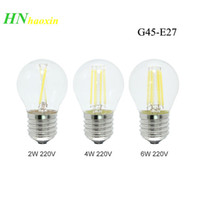 Haoxin E27 Lamba LED Filament Dim G45 4 W 8 W 12 W 16 W Retro Cam Edison 220 V Ampul Akkor Işık Avizeleri Değiştirin