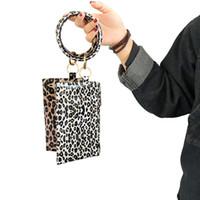 بو سوار المفاتيح الجلود المعصم مفتاح الدائري حقيبة يد ليوبارد أساور قلادة محفظة سيدة مخلب حقيبة اليد حمل أكياس الهاتف حالة GGA3065-1