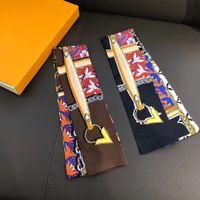 Die neue Luxus gestreiften Band Damenmode Schal Schal im Jahr 2020 ist aus 100% reiner Seide 8 * 120cm