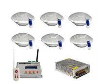 DMX512 동기식 12V RGB LED 수영장 빛 24W PAR56 방수 IP68 중 조명 램프 DMX 컨트롤러 전원 어댑터