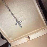 Gros- Serpenti Autres actifs S925 Argent Sterling Plein cristal Serpent Pendentif Collier avec pendentif pour les femmes Bijoux