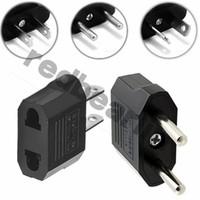 EUA UE para EUA UE Adapter Plug Power Plug Adaptador Adaptador Adaptador Conversor de Viagem Carregador de Potência do Carregador