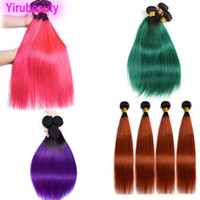 Brazilian Virgin Hair Peruvian Human Hair Indian Straight 1B...