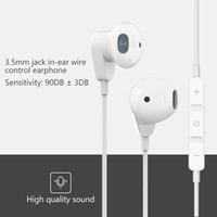 3.5mm fone de ouvido Sports Wired Headphone Music In Ear Com Mic Volume Control Earbuds bobina móvel baixo pesado Headset nova
