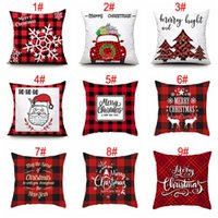 New Year Decor Santa Cushion Covers 45*45cm Christmas Snowflake Pillowcase Home Sofa Pillow Case Xmas Pillow Cover Party Supplies TQQ BH2485