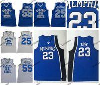 Mens MemphisTigers Tigers Derrick Gül 23 Koleji Basketbol formalar 25 Penny Hardaway 55 Lorenzen Wright Basketbol forması S-XXL