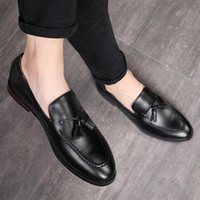 New 2019 Mens Black Dress Shoes Classic Brown Leather Formal...