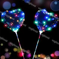 Stringhe a LED lampeggiante a palloncino a forma di cuore con bastone onda palla 3m String light up per Natale Halloween Wedding Birthday Decoration DHL