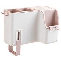 Cocina Cuchara Tenedor Palillos Caja de almacenamiento en rack de drenaje único ligero montado en la pared Cubiertos caja de la cocina del hogar