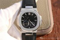 Pp-5712 montre DE luxe (kinetik enerji göstergesi, takvim, ay fazı) 316L ince çelik kaplı mekanik hareket erkek saatler