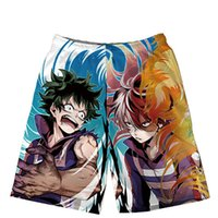 Anime giapponesi My Hero Academia Board Pantaloncini Beach Summer Men Contrast Colour Bianco Blu Verde Nero Surf Trunks Short Pants