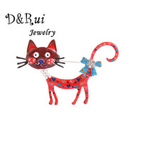 Anime Icons Cute Cat Spille per le donne Smalto Animal Pins Rhinestone Jewelry Girls Fashion Pin Spilla Capodanno regali all'ingrosso