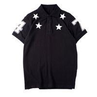 Мужская высококачественная поло мужская одежда Звезда вышивка летняя футболка хип-хоп Мужчины Женщины с коротким рукавом размер S-XXL