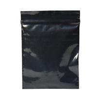 200pcs / lot 7 * 10cm Paquet plastique Grip Noir refermable Joint Sac détail Self Seal plastique Zip Sac à verrouillage pour les petits bijoux cadeau d'épicerie