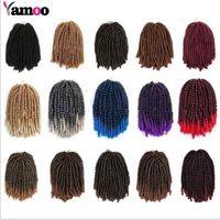 Spring Curly 30roots / PCs Crochet tresses EXTENDUES DE CHIPIÈRE DE COULEUR DE COULEUR Ressort Twist Cheveux Kinky Burly Twist Synthétic Hair 8 pouces FZP238