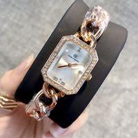 Ultra dunne roos goud vrouw diamant horloges 2019 luxe verpleegster dames jurken vrouwelijke mode polshorloge Populaire hoge kwaliteit geschenken voor meisjes