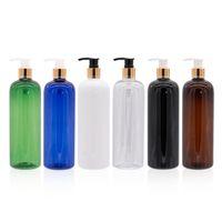 Bottiglie pompa della lozione 12pcs 500ml nero di alta qualità Bianco contenitore cosmetico sapone liquido ricaricabile shampoo doccia gel bottiglia