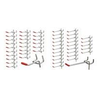 50 PC-Klammern-Brett-Haken Wandregal Gerätehalter Organisator-Speicher-Display-Hardware-Tools Slat Wand Home Retail-Anzeigen-Geschäft Peg H