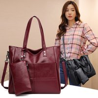 Soft Leather Composite Bag Lady Big Capacity Shoulder Crossb...