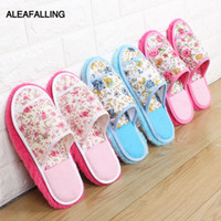 Aleafalling Women Slipper Indoor Flower Soft Lazy Mopping Gi...