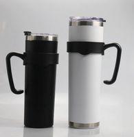 20온스 30온스 마른 텀블러 컵 블랙 핸들 플라스틱 홀더 스테인레스 스틸 마른 컵 홀더에게 KKA7925를 처리